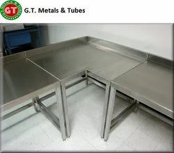 Silver SS L Shape Table