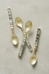 Mother Of Pearl Brass Cutlery Sets