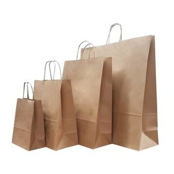 Brown Paper Craft Bag, Capacity: 1/2kg to 5 kg