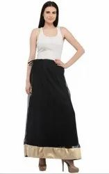 Elegant Black Readymade Skirt