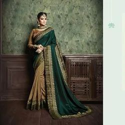 Fancy Georgette Work Party Wear Saree