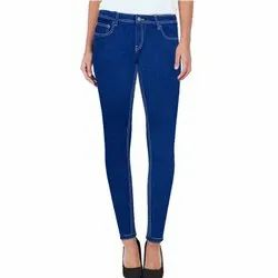 Josh Button Stretchable Ladies Jeans Blue, Packaging Type: Polly Bag Or Cartoon, 16 To 30