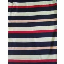 Poly Satin Stripe Fabric