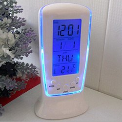 Plastic Alarm Temperature Calendar Digital Table Clock