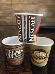 Multicolor Printed Paper Coffee Cup, Packet Size: 50 Pieces/Packet, Capacity: 95 ml