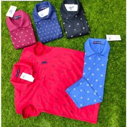 Cotton Printed Mens Polo T-Shirt