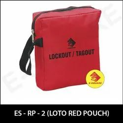 Red Loto Lockout Kit Pouch
