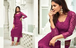 Bollywood Ethnic Vaishnavi Ladies Net Suit