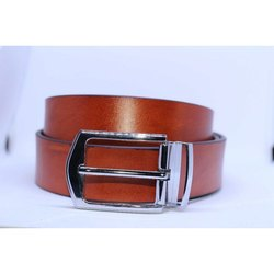 Brown Stripe Leather Belt