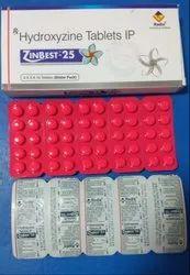 Hydroxyzine 10 mg, 25 mg and 75 mg