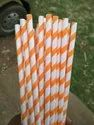 Colored Paper Wrapped Straw