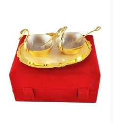Gold Plated Swan Bowl 5 pcs Set