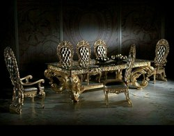King Dining Table, For Home, 6 Chairs