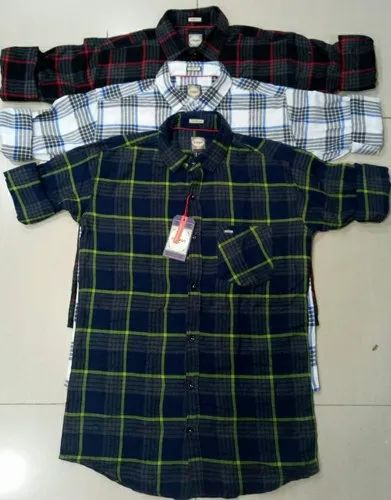 Black Casual Wear Modern Check Shirt