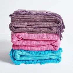 Cotton Slub Throw Ethnic Throws Heated Blankets