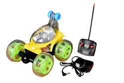 Plastic Wireless 360 Degree Stunt Remote Car for Kids (Multi Colour Car_3)