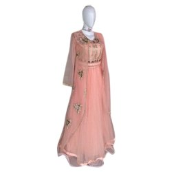 Embroidered Ladies Party Wear Gown