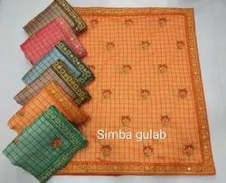 Fancy Saree with Embroidery Work Simba Gulab