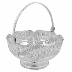 Fancy Silver Fruit Basket with BIS Hallmark