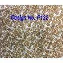 P132 Metallic Printed Fabric