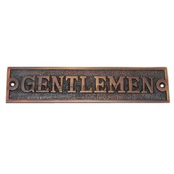Rectangular Gentlemen Brass Sign
