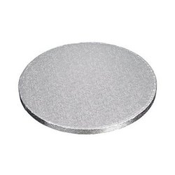 12 Inch Drum Board Silver Cake Base