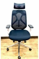 Lucano High Back Ergonomic Chair in White and Black Colour