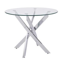 Up To 2.5 Feet Round Glass Table, For Office