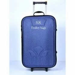 Blue Polyester Sk Trolley Bag, For Travelling
