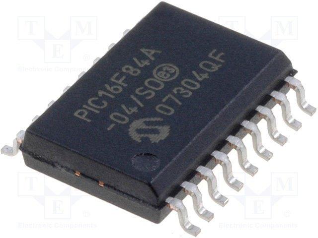 8 BIT MICROCONTROLLORE Flash 1.75 KB PIC16F 4 MHz 18 PIN SOIC 68 BYTE
