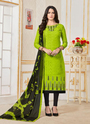 Cotton Churidar Suits With Fancy Dupatta