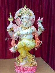 Marble Dancing Ganesha Statues