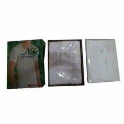 Nittys White Mens Cotton Vest, Size: 75