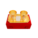 Gold Plated Water Glass Set