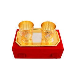 Silver and Gold Plated Glass Set