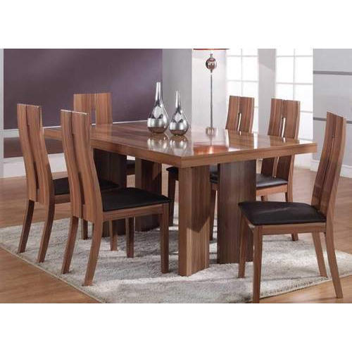 Brown 6 Seater Wooden Dining Table Rs 10000 Set Puja Plywood