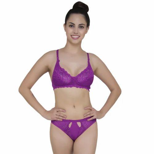 Lingerie Violet Bra Set at Rs 160  piece  08122b123