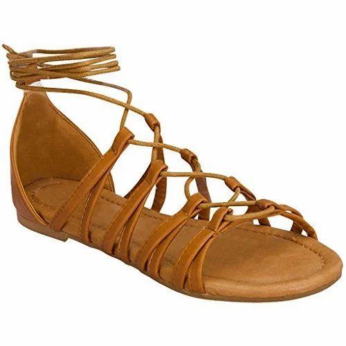 3acd7392c13b Brown Women Strappy Flat Sandals