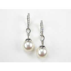 Beautiful Two Natural Pearl Design 925 Silver Moti Earring