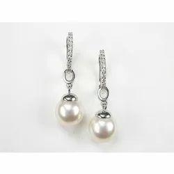 Beautiful Natural Pearl Design 925 Silver Earring