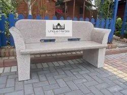 Elegant Granite Bench With Arm Rest