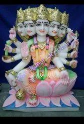 Marble Panchmukhi Gayatri Maa Statue