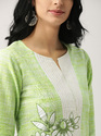Lime Straight Kurta