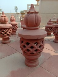 RED SANDSTONE LAMPS