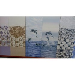 Gloss Ceramic Tiles Digital Printed Bathroom Tiles, Thickness: 6-8 mm, Size: 1 X 1 Feet