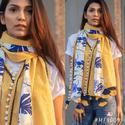 Stoles Mufflers Series 9001-9009 Stylish Party Wear Handloom Khadi Stoles