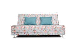 Adorn India Roselyn 3 Seater Sofa Cum Bed Digitel Print (Aqua Blue)