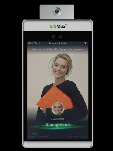 Temperature Scan Face Reader Biometric Attendance Machine Biomax 8tm