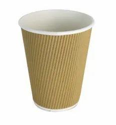 Kraft 20 Oz (600ml) Ripple Paper Cups, For Serving Hot & Cold Baverages