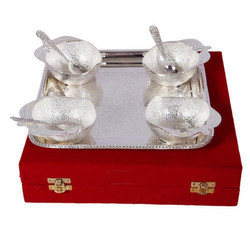 German Silver Apple Shape Bowl Set